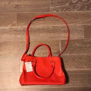 Red justfab handbag crossbody